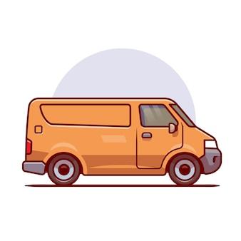 Caricature de cargaison de voiture de livraison. transport de véhicule isolé