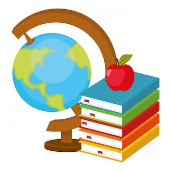 Caricature de carte du monde scolaire