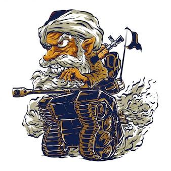 Caricature de char en char