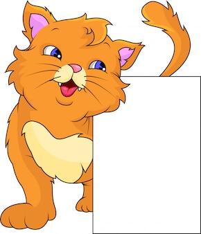 Caricature de chat mignon et signe vierge