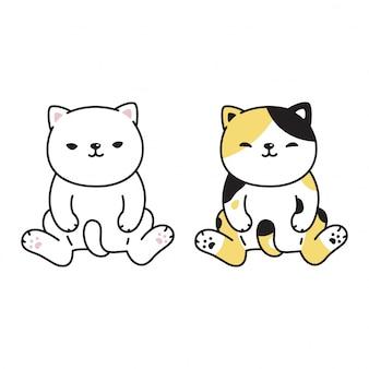 Caricature de chaton chat