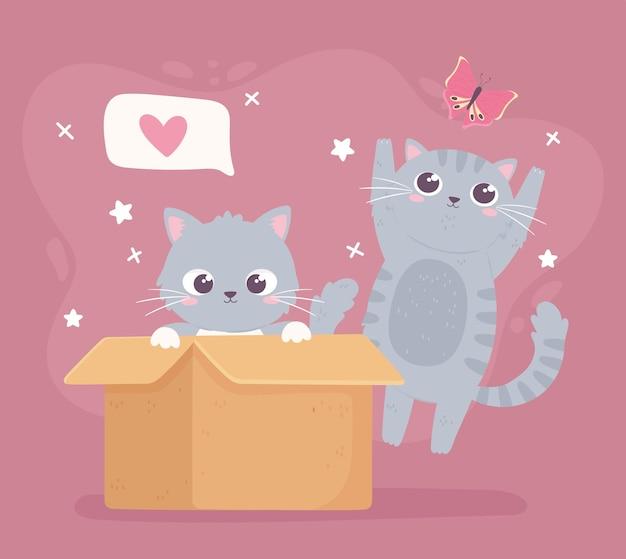 Caricature de chatons mignons