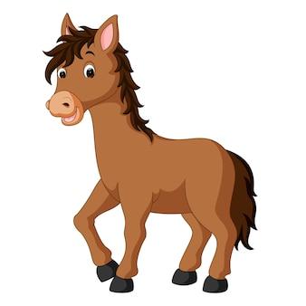 Caricature de cheval heureux