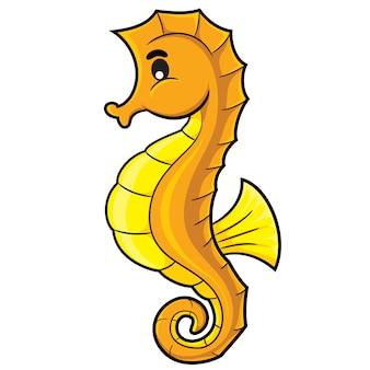 Caricature de cheval de mer