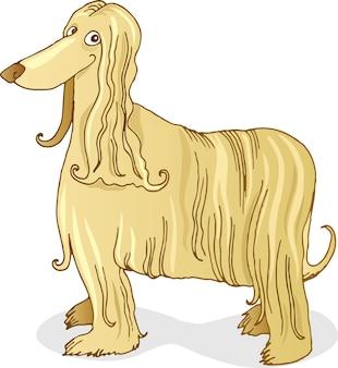 Caricature de chien de chasse afghan
