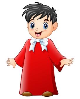 Caricature de chorale garçon