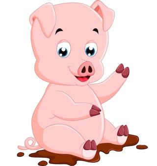 Caricature de cochon mignon