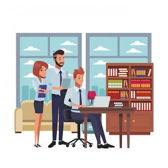 Caricature de collègues de travail