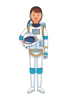 Caricature de corps astronaute