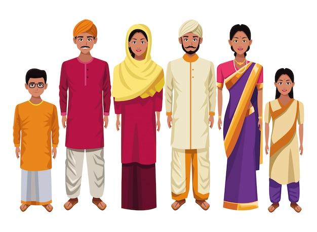 Caricature de la culture orientale indienne asiatique