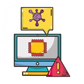 Caricature de la cybersécurité