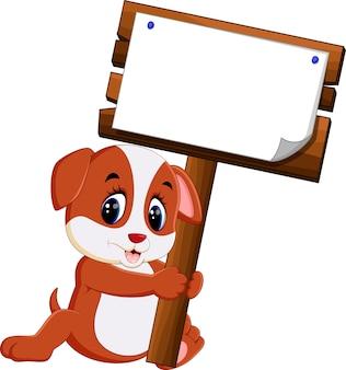 Caricature de chien mignon