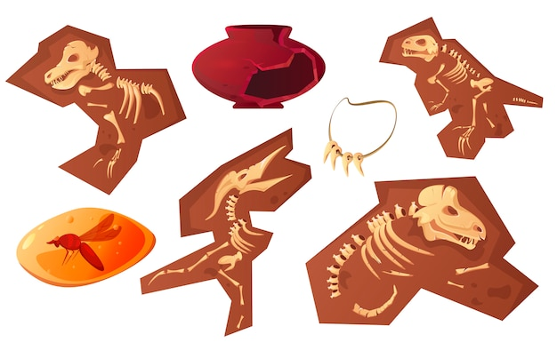 Caricature de découvertes archéologiques et paléontologiques