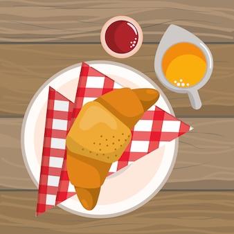 Caricature de délicieux plats savoureux