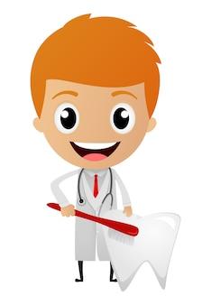 Caricature de dentiste