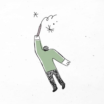 Caricature de dessin homme vert