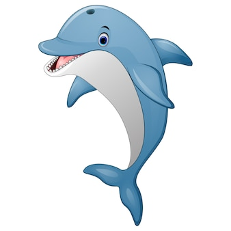 Caricature de dolphin debout