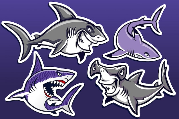 Caricature du pack de requins
