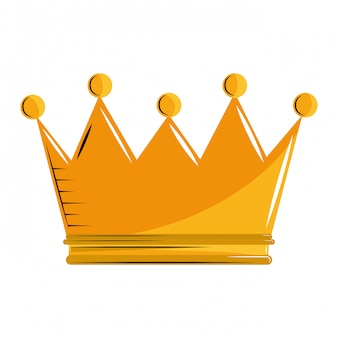 Caricature du roi couronne