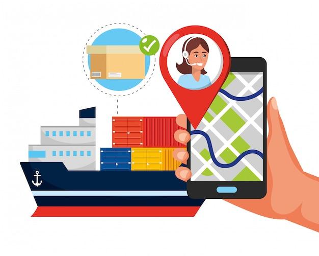 Caricature du service logistique d'assistance client