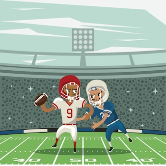 Caricature du tournoi de football sportif