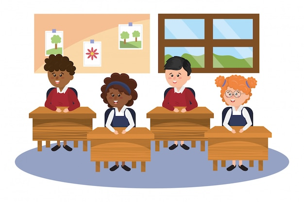 Caricature d'école primaire