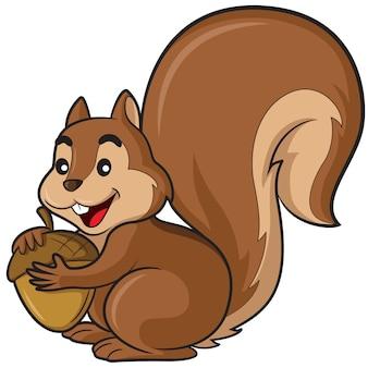 Caricature d'écureuil