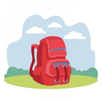 Caricature de l'éducation scolaire sac à dos isolé