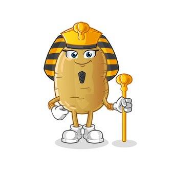 Caricature de l'égypte ancienne de pommes de terre