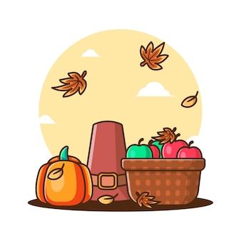 Caricature d'élément d'automne