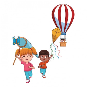 Caricature d'enfants mignons
