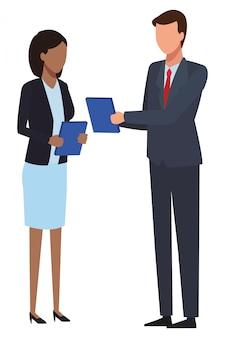 Caricature d'entreprise exécutif