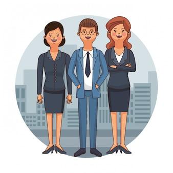 Caricature de l'équipe d'avocats