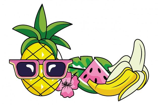 Caricature d'été tropical