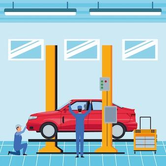 Caricature de fabrication automobile