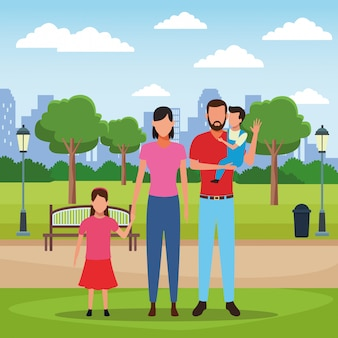 Caricature de famille
