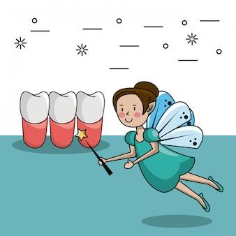Caricature de la fée des dents