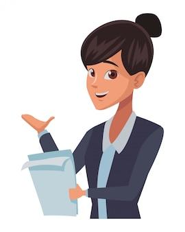 Caricature de femme d'affaires