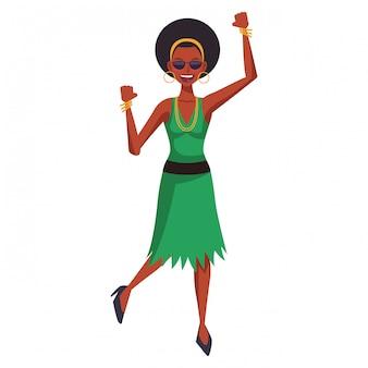 Caricature femme disco