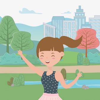 Caricature de fille adolescente