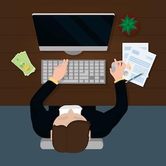 Caricature de finances personnelles