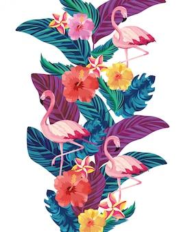 Caricature de flamants roses