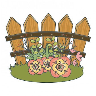 Caricature de fleurs de nature florale