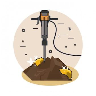 Caricature de forage au sol
