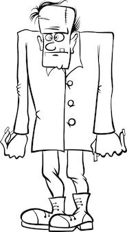 Caricature de frankenstein pour cahier de coloriage