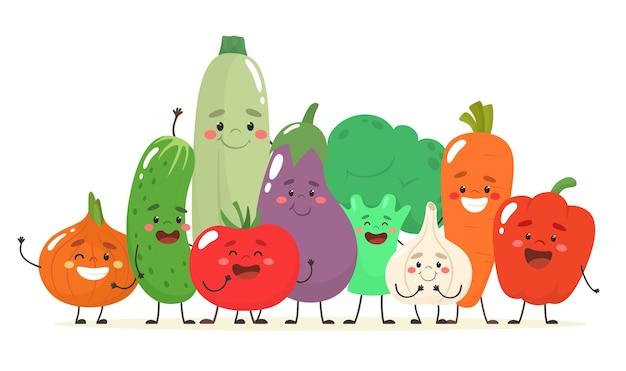 Caricature de fruits et légumes
