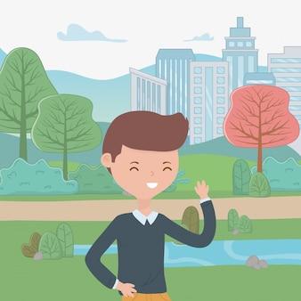 Caricature de garçon adolescent