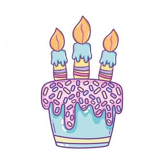 Caricature de gâteau d'anniversaire