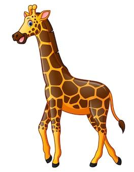 Caricature de girafe heureux