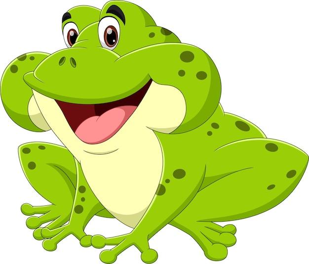 Caricature de grenouille verte